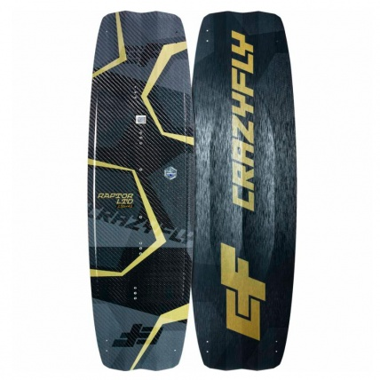 CrazyFly Raptor LTD Carbon Edition Kiteboard front and back