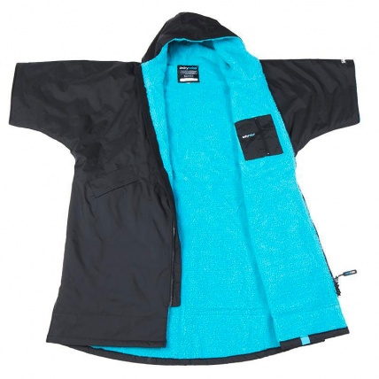 Dryrobe Advance Short Sleeve Changing Robe Black and Blue