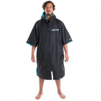 Dryrobe - Advance Short Sleeve Changing Robe Black and Blue