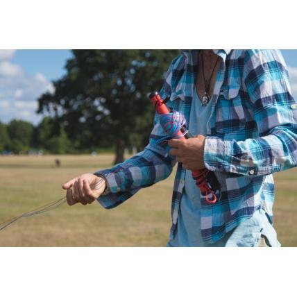 Cross Kites Quattro Four Line Power Kite in use