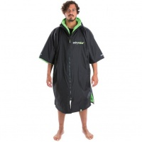 Dryrobe - Advance Short Sleeve Changing Robe Black and Green