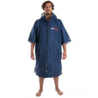 Dryrobe - Advance Short Sleeve Navy Blue and Grey Changing Poncho