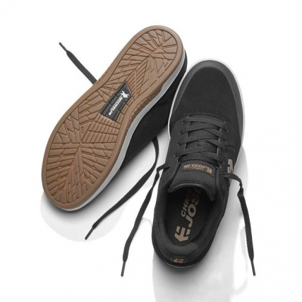 Etnies Marana Michelin Joslin Skate Shoe Black Tan top bottom