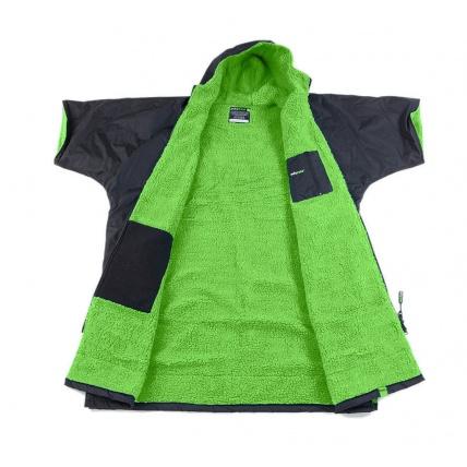 Dryrobe Advance Long Sleeve Changing Robe Black and Green