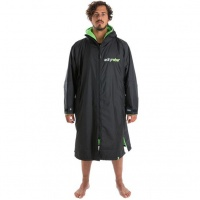 Dryrobe - Advance Long Sleeve Changing Robe Black and Green