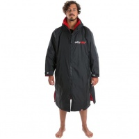 Dryrobe - Advance Long Sleeve Changing Robe Black and Red