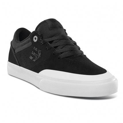 Etnies Marana Vulc Black White Silver Skate Shoes front