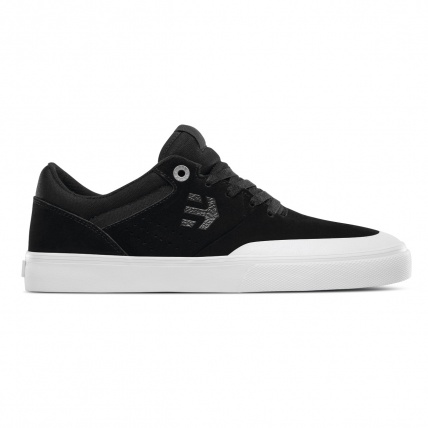 Etnies Marana Vulc Black White Silver Skate Shoes side view
