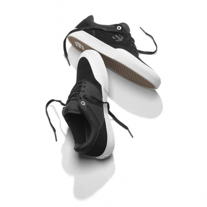 Etnies Marana Vulc Black White Silver Skate Shoes top and bottom
