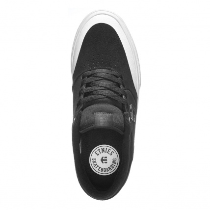 Etnies Marana Vulc Black White Silver Skate Shoes top