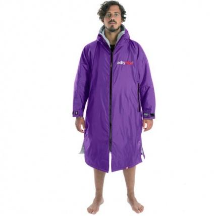 Dryrobe Advance Long Sleeve Beach Robe Purple and Grey