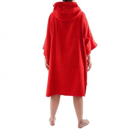 Dryrobe Red Short Sleeve Towel Changing Robe Poncho