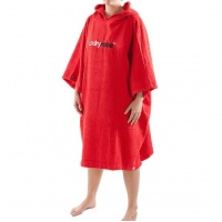 Dryrobe - Red Short Sleeve Towel Changing Robe Poncho