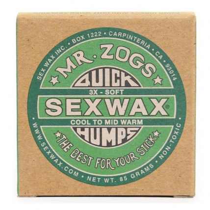 Mr. Zogs Sex Wax Surf Wax 85g Green Cool to Mid-Warm