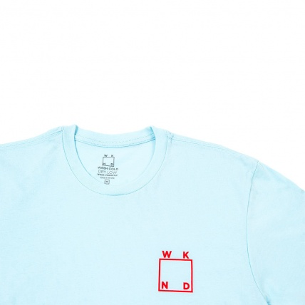Weekend Skateboards Square Logo Classic Tee Blue