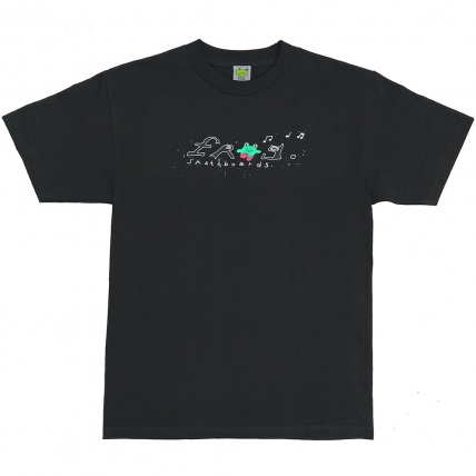 Frog Skateboards Dirty Happy Frog Tee in Black