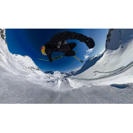 GoPro Fusion 360 Action Sports Camera in use freestyle skiing