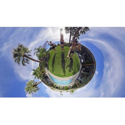 GoPro Fusion 360 Action Sports Camera in use little planet