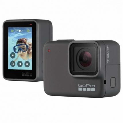 GoPro Hero 7 Silver Front and Back
