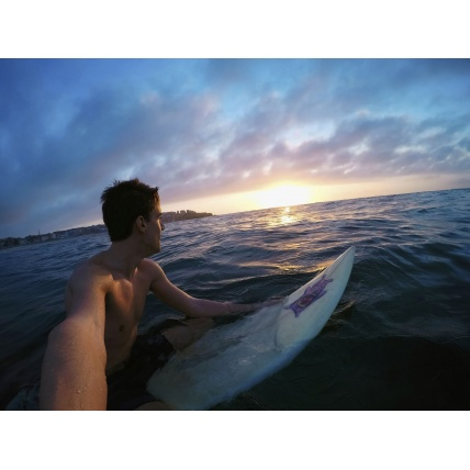 Surfing with GoPro Hero 7 Silver