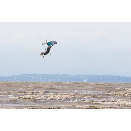 Liquid Force NV V9 Kitesurfing Kite in use Harry dead man