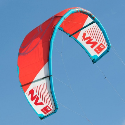 Liquid Force NV V9 Kitesurfing Kite in use Red