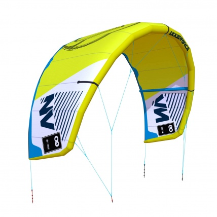 Liquid Force NV V9 Kitesurfing Kite in Lime