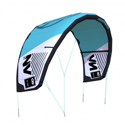 Liquid Force NV V9 Kitesurfing Kite in Teal