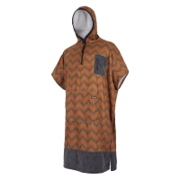 Mystic - Poncho All Over Print in Seal Brown Gold