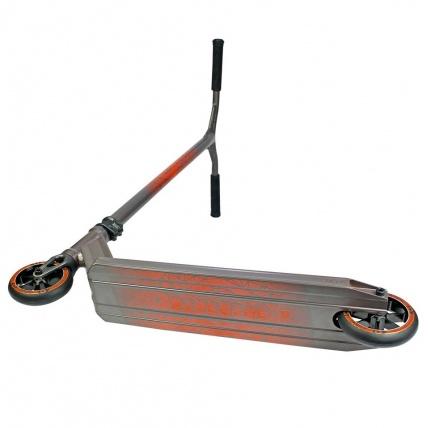 District Titanium Grey and Orange Complete Scooter underside