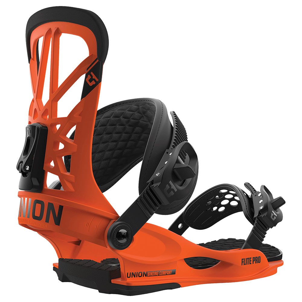 Union Flite Pro Mens 2019 Snowboard Bindings Orange