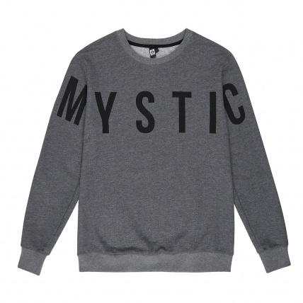 Mystic Brand Crew Sweatshirt in Asphalt Grey Melee front
