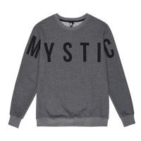Mystic - Brand Crew Sweatshirt in Asphalt Grey Melee