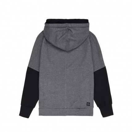 Mystic Womens Malone Sweatshirt Hoody in Grey back