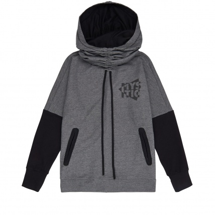 Mystic Womens Malone Sweatshirt Hoody in Grey