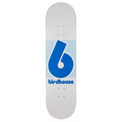 Birdhouse 8.125in Block Logo Deck in Blue and White