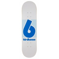 Birdhouse Skateboards - 8.125in Block Logo Deck in Blue and White