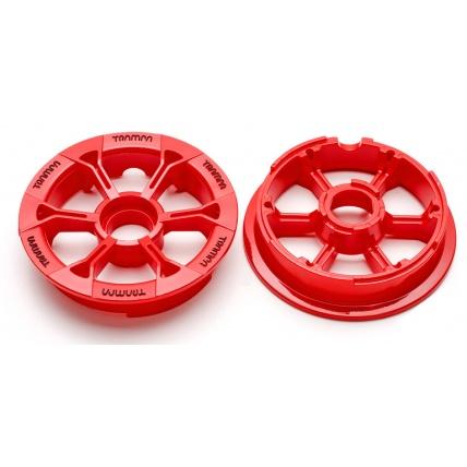 Trampa mountainboard Hypa hub wheel in red
