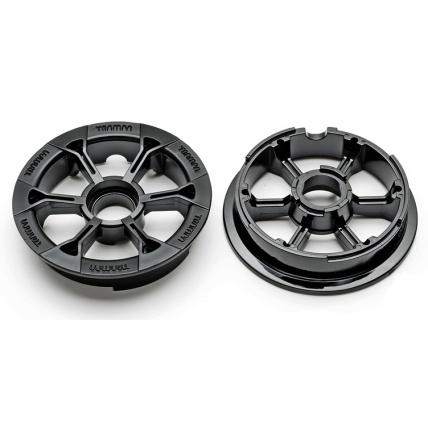 Trampa Gloss Black Hypa Hubs Mountainboard wheel hub 10cm diameter 6 7 8 inch tyre