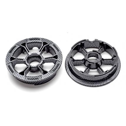 Trampa Hypa Hub carbon print mountain board wheel
