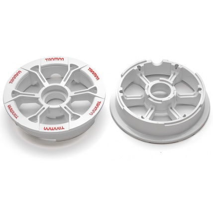 Trampa Hypa Hub White red logo fits 6 7 8 inch tyre mountain board wheel