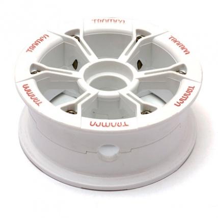 Trampa Hypa Hub White red logo fits 6 7 8 inch tyre mountainboard wheel