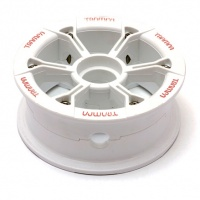 Trampa - Mountainboard HYPA Hub White with Red Logo (Each)