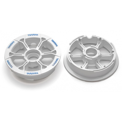 Trampa Hypa Hub White with red logo fits 6 7 8 inch tyre plastic mountain board wheel