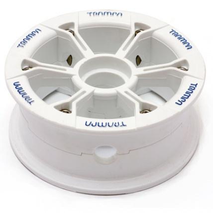 Trampa Hypa Hub White blue logo fits 6 7 8 inch tyre mountainboard wheel