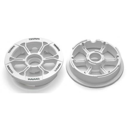 Trampa Hypa Hub White Black logo fits 6 7 8 inch tyre mountain board plastic wheel