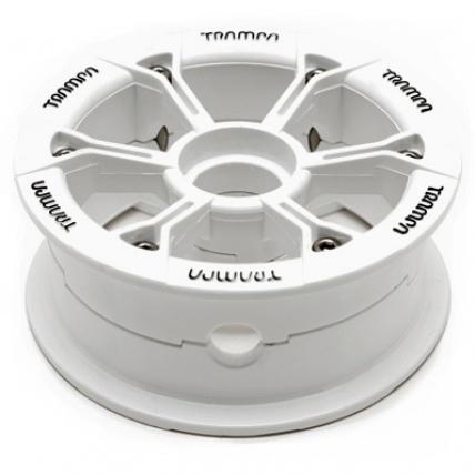 Trampa Hypa Hub White Black logo fits 6 7 8 inch tyre mountainboard wheel
