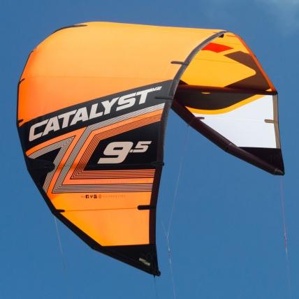 Ozone Catalyst V2 Kitesurfing Kite in Orange