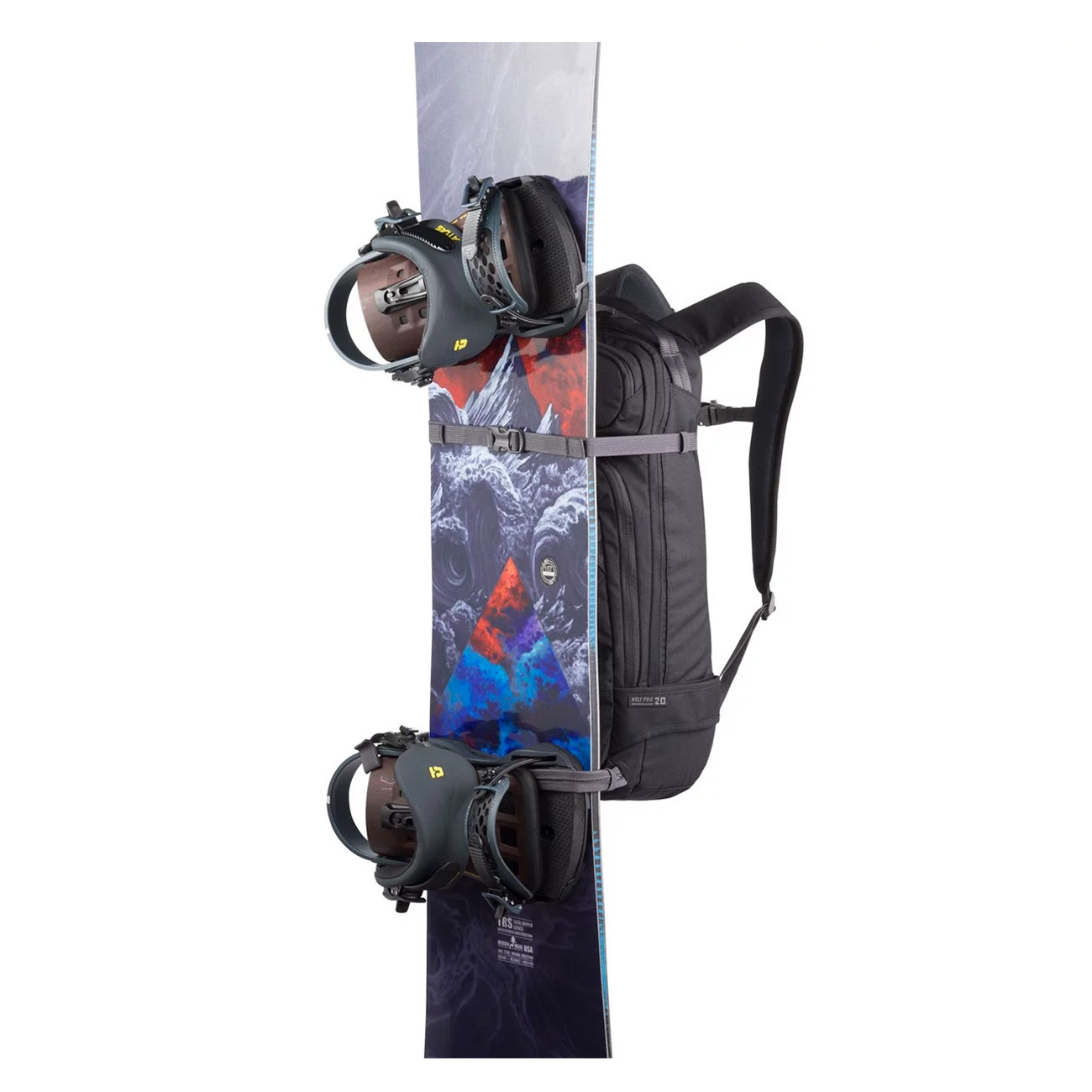 Dakine Heli Pro 20L Snow Backpack in Black vertical snowboard carry straps cd40bd6798
