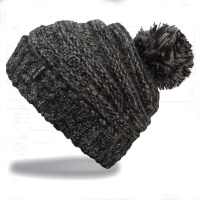 Dakine - Scrunch Black Mix Womens Pom Beanie